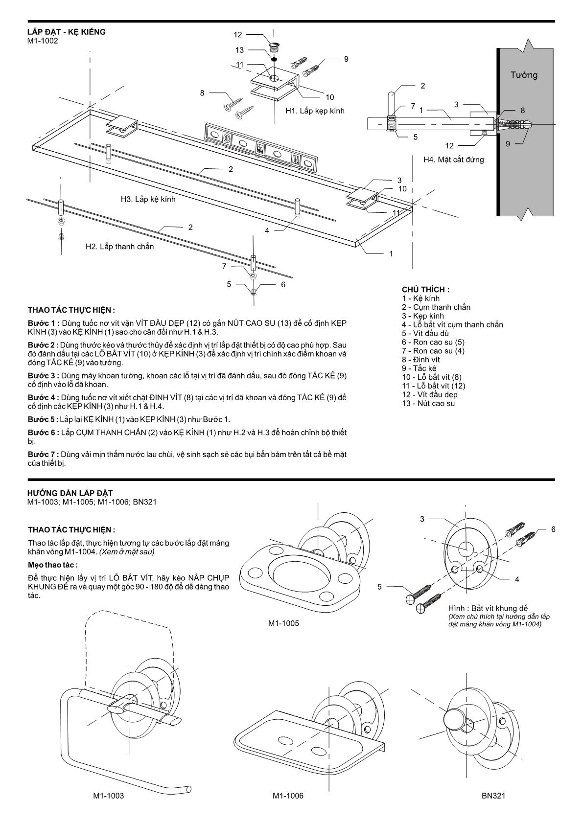 hướng dẫn lắp đặt BAO 6m1a